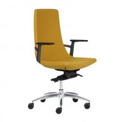 Ergonomisks, moderns biroja krēsls, ar šūpošanās mehānismu, augstumā regulējams