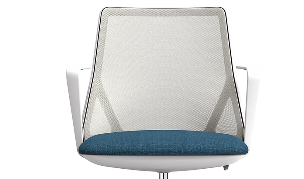 Task chair with breathable mesh backrest