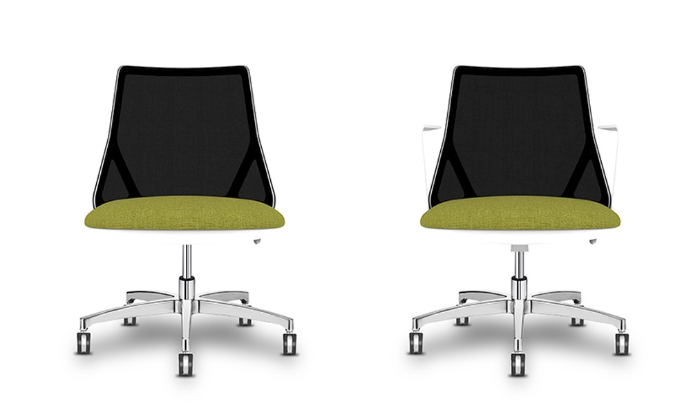 Italian task chairs for home and office with five star base