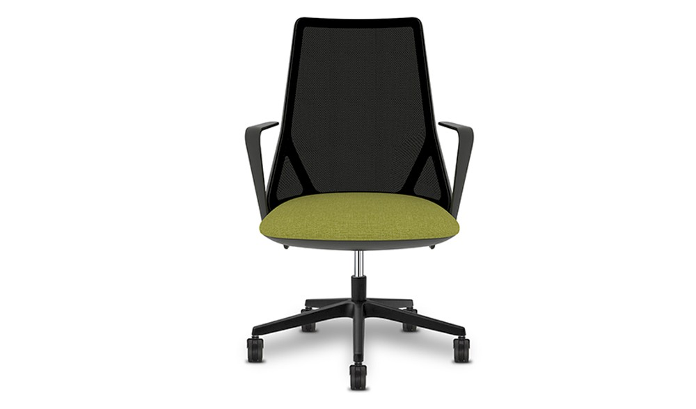 Task chair with breathable mesh backrest with neilon base